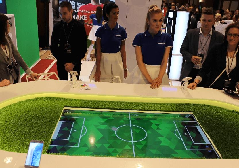 Interaktywny stół multimedialny - piłkarzyki